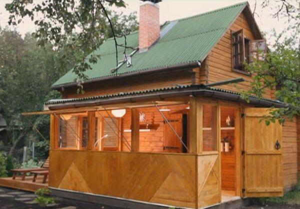 Фото дачных домиков с верандой своими руками