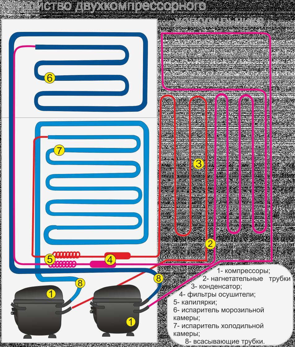 Схема электроники для холодильника
