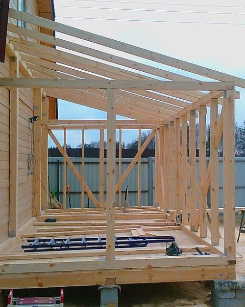 веранды к деревянному дому