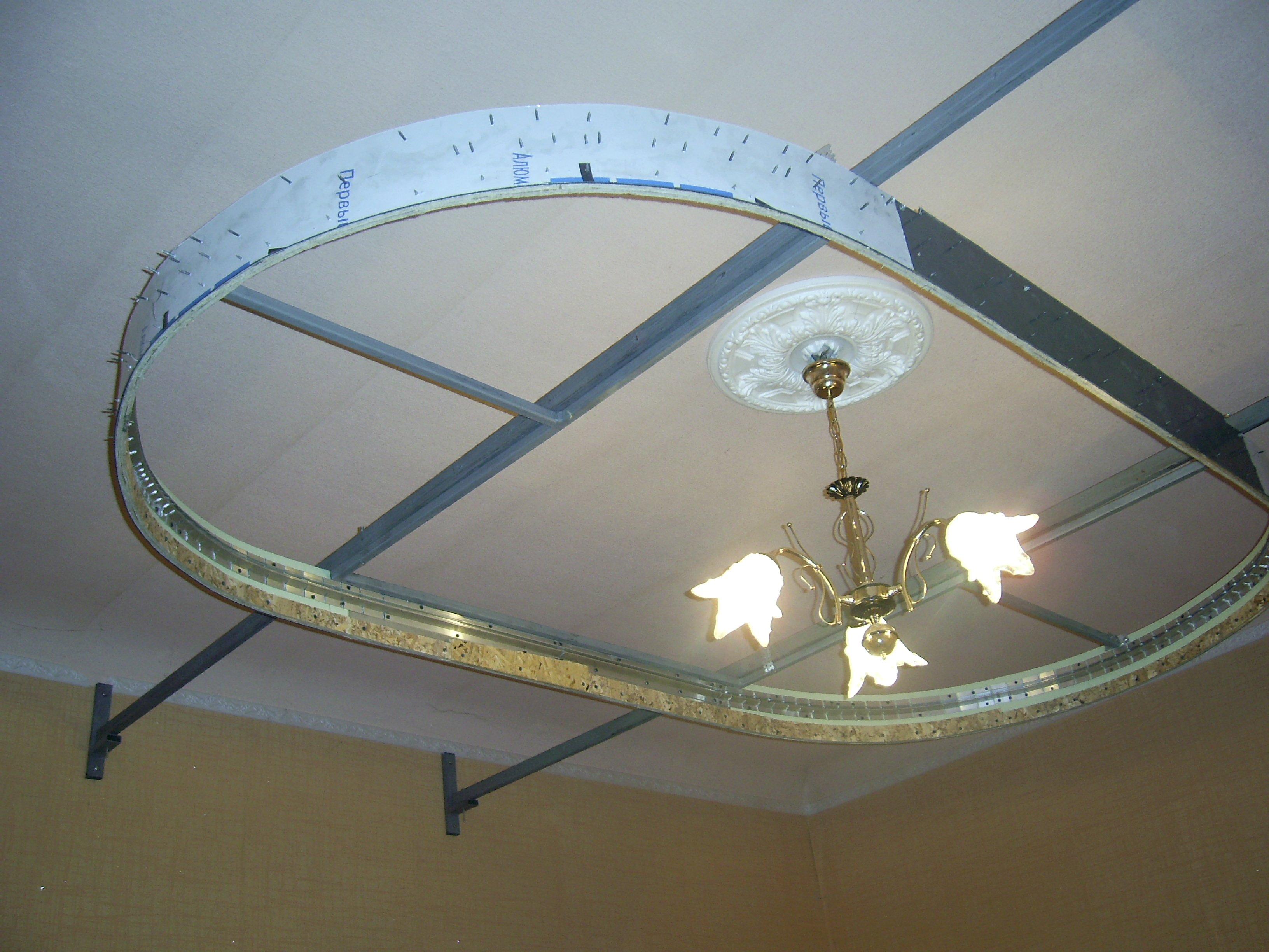 Как сделать потолки двухуровневые натяжные
