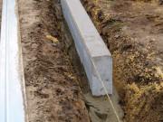 Установка бетонных бордюров