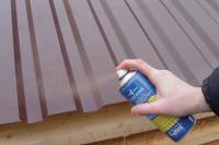 Восстановление поверхностного слоя сэндвич панели ремонтной краской