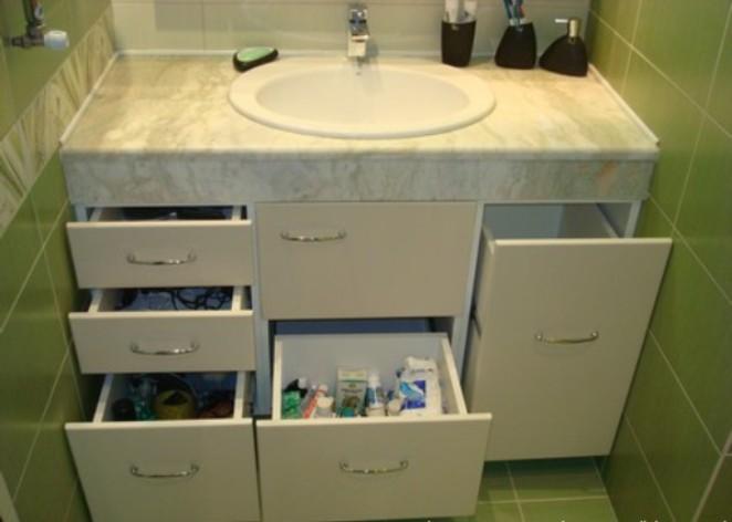 Шкаф для раковины в ванной своими руками